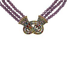 "Heidi Daus ""Love Knot"" Crystal Pretzel-Shaped Beaded Necklace"