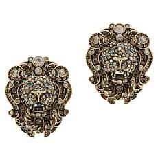"""Heidi Daus """"Lovely Lion"""" Crystal Earrings"""