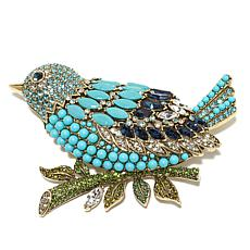 "Heidi Daus ""Marquise Madness"" Crystal Bird Pin"