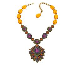 "Heidi Daus ""New Flame"" Crystal-Link Drop Necklace"