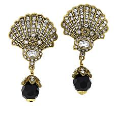 "Heidi Daus ""Noir Mystique"" Crystal Drop Earrings"