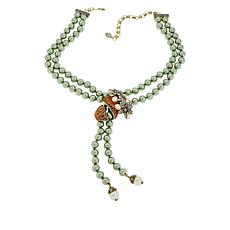 "Heidi Daus ""Orange Blossom"" Beaded Drop Necklace"