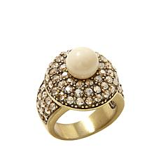 "Heidi Daus ""Posh and Proper"" Pavé Crystal Round Ring"