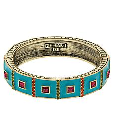 "Heidi Daus ""Pretty Princess"" Enamel and Crystal Bangle Bracelet"