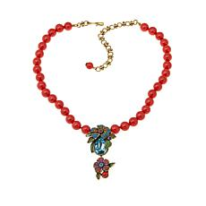 "Heidi Daus ""Prima Petal Pretty"" Beaded Drop Necklace"