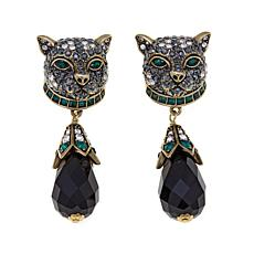 "Heidi Daus ""Purrfection"" Beaded Crystal Drop Earrings"