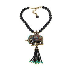 "Heidi Daus ""Queen of Siam"" Beaded Tassel Drop Necklace"