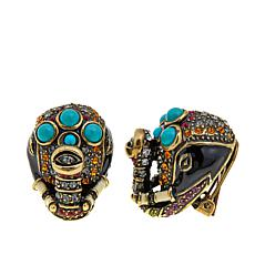 "Heidi Daus ""Queen of Siam"" Enamel and Crystal Earrings"
