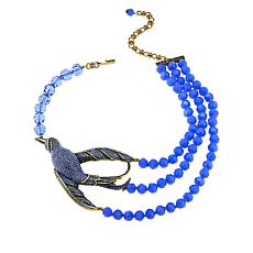 "Heidi Daus ""Ravishing Ribbon Tail"" Beaded Crystal Station Necklace"