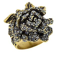 "Heidi Daus ""Rose Elegance"" Crystal Ring"