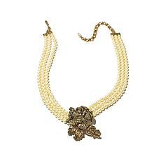 "Heidi Daus ""Rose Elegance"" Triple-Strand Necklace"