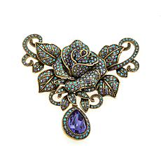 "Heidi Daus ""Rose Rhapsody"" Pavé Crystal Drop Pin"