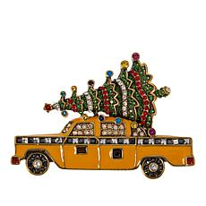 "Heidi Daus ""Santa's Other Sleigh"" Enamel and Crystal Pin"