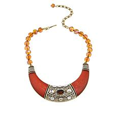 "Heidi Daus ""Say It With Style"" Beaded Bib Drop 17"" Necklace"