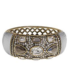 "Heidi Daus ""Say It With Style"" Crystal Hinged Bangle Bracelet"