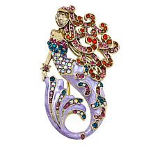 "Heidi Daus ""Sea Fairy Mermaid"" Crystal and Enamel Pin"