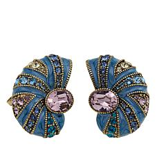 "Heidi Daus ""Seas the Day"" Crystal and Enamel Earrings"