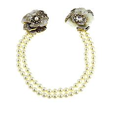 "Heidi Daus ""Sensational Chatelaine"" Two-Strand Crystal Pin Necklace"