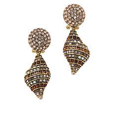 """Heidi Daus """"Shell Shocked"""" Crystal Drop Earrings"""