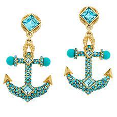 "Heidi Daus ""Ship Bottom"" Anchor-Design Drop Earrings"