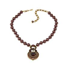 "Heidi Daus ""Signature Addition"" Beaded Drop Necklace"