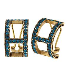 "Heidi Daus ""Signature Sparkle"" Crystal Hoop Earrings"
