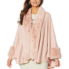 "Heidi Daus ""Simply Posh"" Topper with Faux Fur Trim"