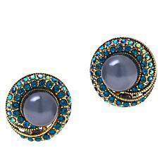 "Heidi Daus ""Sparkling Tradition"" Crystal Stud Earrings"