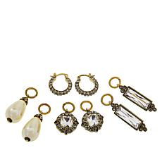"Heidi Daus ""Sparkling Trinity"" Crystal Earrings Set"