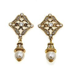 "Heidi Daus ""Speechless"" Crystal-Accented Drop Earrings"