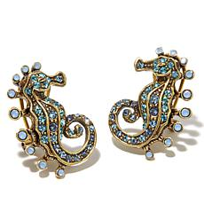 "Heidi Daus ""Stallion of the Sea"" Crystal Earrings"