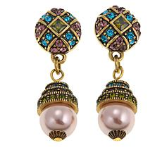 "Heidi Daus ""Staying in Line"" Crystal-Accented Bead Drop Earrings"