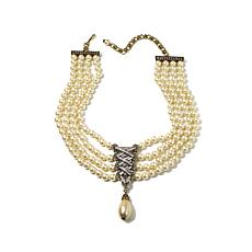 "Heidi Daus ""Straight Laced"" 4-Strand Drop Necklace"