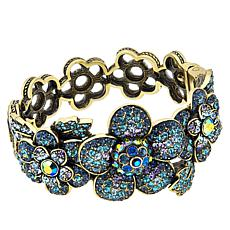 "Heidi Daus ""Sweet Nothing"" Crystal Floral Bangle Bracelet"