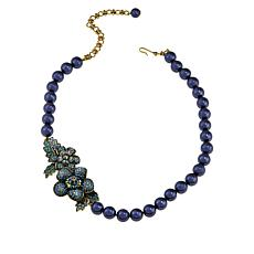"Heidi Daus ""Sweet Nothing"" Crystal Floral Station Necklace"