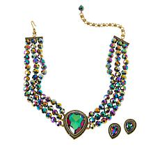 "Heidi Daus ""Tailored Teardrop"" Necklace and Earrings Set"