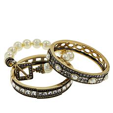 "Heidi Daus ""Tantalizing Trio"" 3-piece Crystal Bracelet Set"