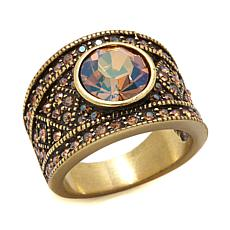 """Heidi Daus """"The Daily Double"""" Crystal Band Ring"""