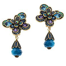 "Heidi Daus ""The Dance of the Butterflies"" Crystal Drop Earrings"