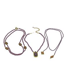 "Heidi Daus ""The Deco Trilogy"" 3-piece Beaded Necklace Set"