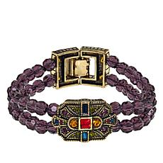 "Heidi Daus ""The Deco Trilogy"" Double-Row Bracelet"