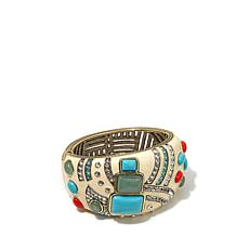 "Heidi Daus ""The Modernist"" Enamel Bangle Bracelet"