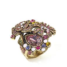 "Heidi Daus ""The Queen's Garden"" Crystal Statement Ring"