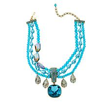 """Heidi Daus """"The Seaview"""" Crystal Pendant with 3-Row Necklace"""