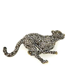 "Heidi Daus ""The Speed of Sparkle"" Crystal Cheetah Pin"