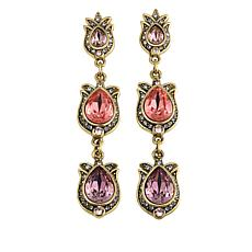 "Heidi Daus ""The Tuileries"" Crystal Drop Earrings"