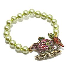 "Heidi Daus ""Time For Tea"" Beaded Toggle Bracelet"