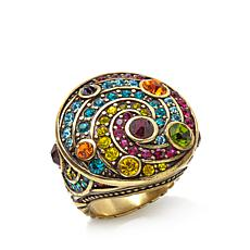 "Heidi Daus ""Timing is Everything"" Crystal Round Ring"