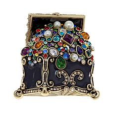 "Heidi Daus ""Treasure Trove"" Enamel and Crystal Pin"