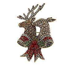 "Heidi Daus ""Trophy Couple"" Crystal Pin"